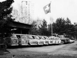 GGZ Fahrzeugflotte in den 1970er Jahren.