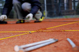 Tennisplatzpflege