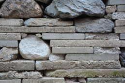 Elemente einer Recyclingmauer