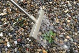 Unkrautbekämpfung mit Heisswasser