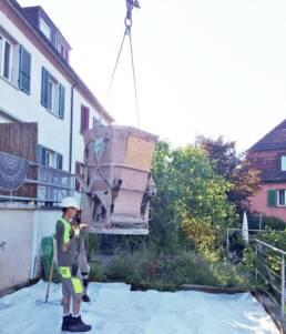 Abladen auf der Baustelle