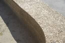 Stampfbetonmauer Detail