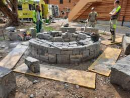 Aufbau Feuerstelle